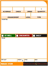How To Make A Blank Magic Item Card in D&D Character Builder   One