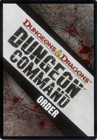 Dungeon Command Order Card Back