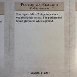 D&D Essentials Kit Magic Item Card (Potion of Healing)