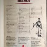 D&D Essentials Kit Rulebook TOC